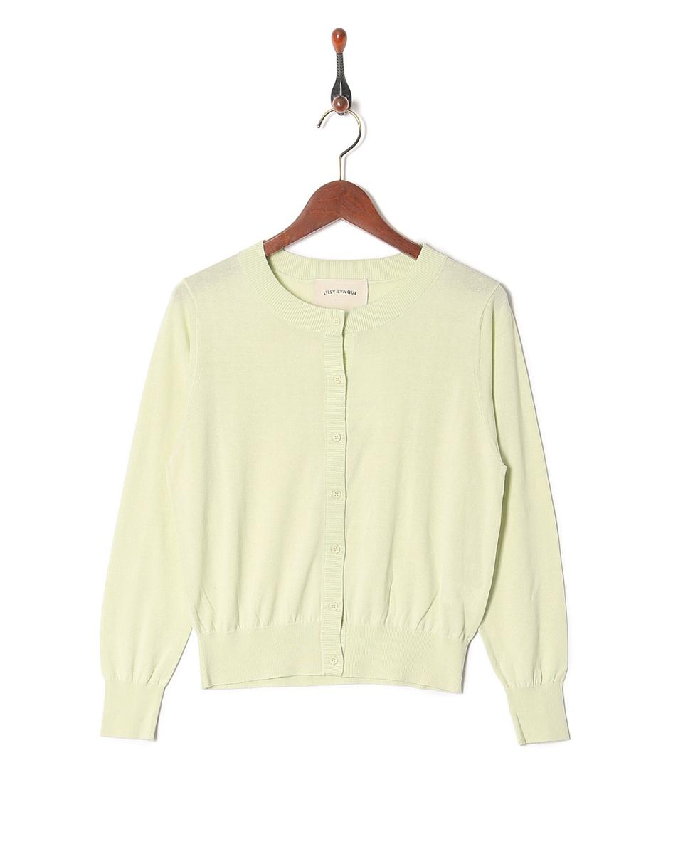 LILLY LYNQUE / l.green高規絹棉開衫○8708232 /女裝