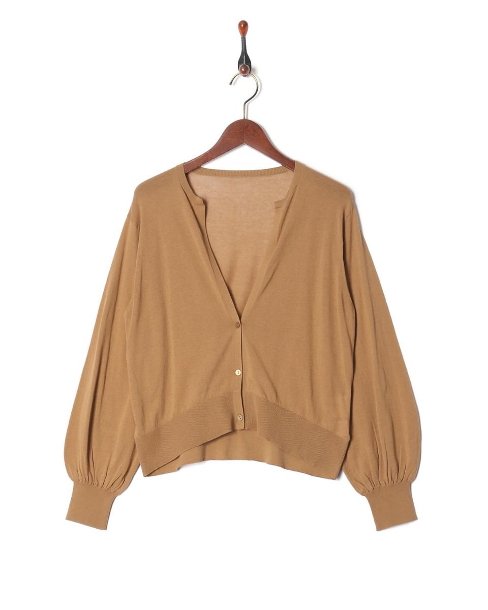 LILLY LYNQUE /米色高計短針織開衫○8708268 /女裝