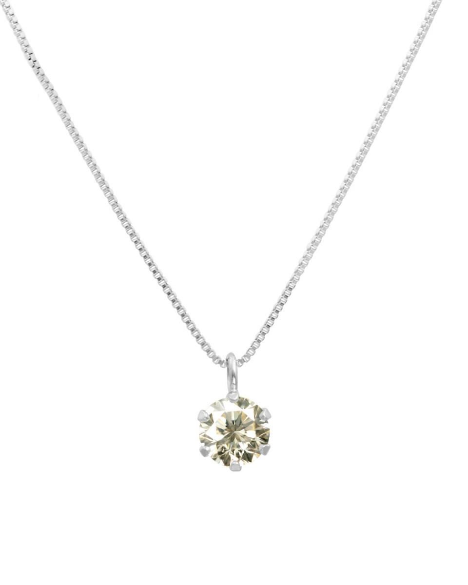鉑金鑽石及黃金飾品COLLECTION /鉑天然鑽石0.3ct SI類白金六爪項鍊威尼斯鏈○NSII-03CT-SI-BN40-PT /女裝