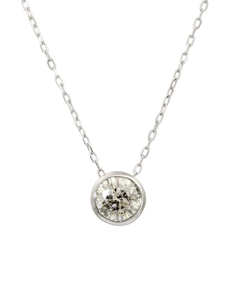 PLATINUM DIAMOND & GOLD JEWELRY COLLECTION / Pt 天然ダイヤモンド 0.5ct フクリン 一粒ペンダント○NSUZ-05CT-A40-HUKU-PT / ウィメンズ