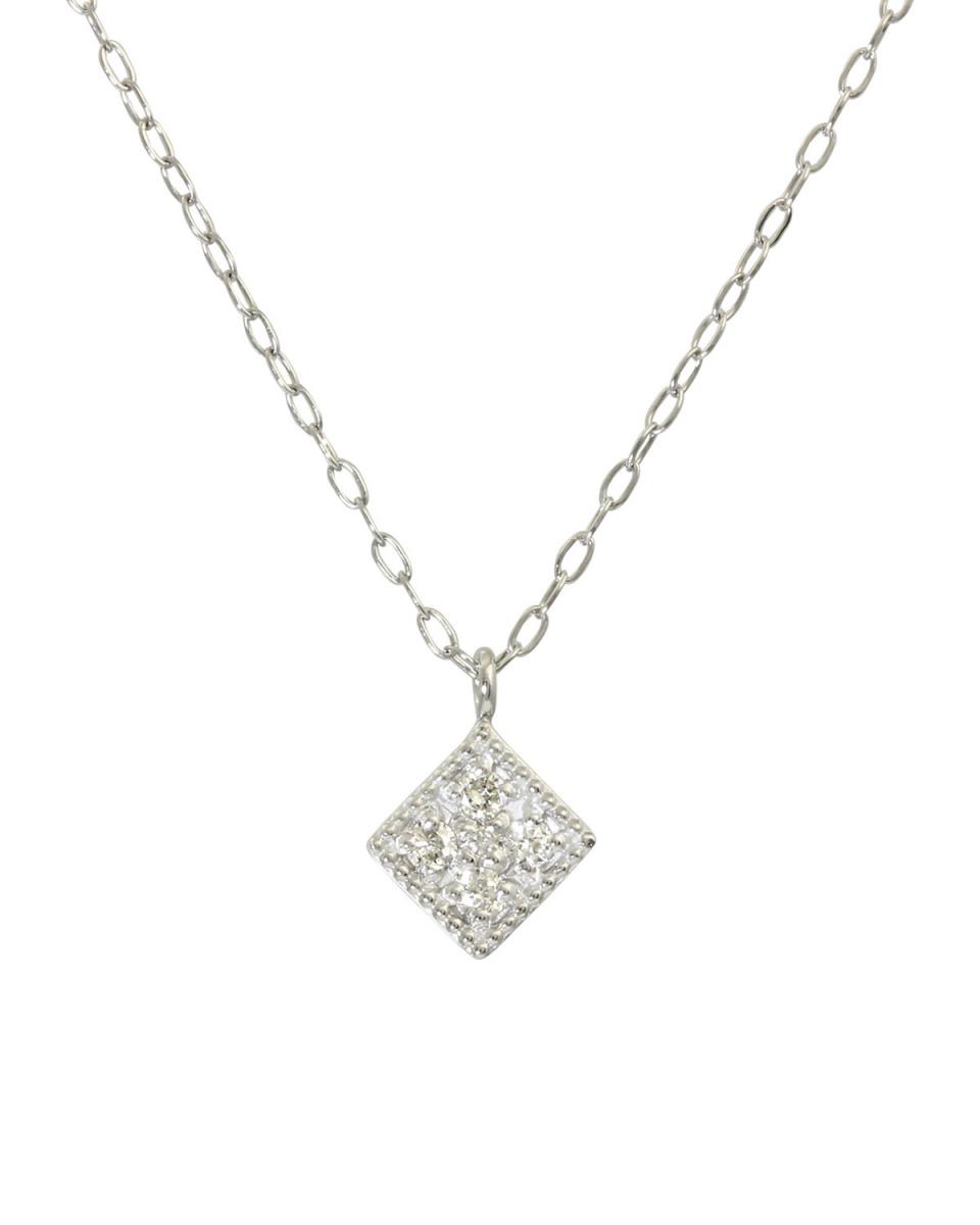 鉑金鑽石及黃金飾品COLLECTION /鉑天然鑽石5石鉑金項鍊,鑽石○NSUZ-12204-005CT-A40-PT /女裝