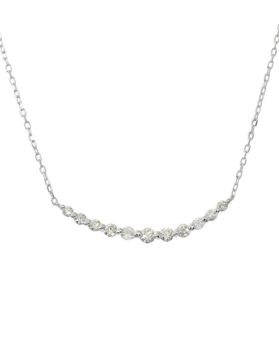 鉑金鑽石及黃金飾品COLLECTION /鉑天然鑽石計0.5ct線項鍊○NSUZ-12415-05CT-A47S-LINE-PT /女裝
