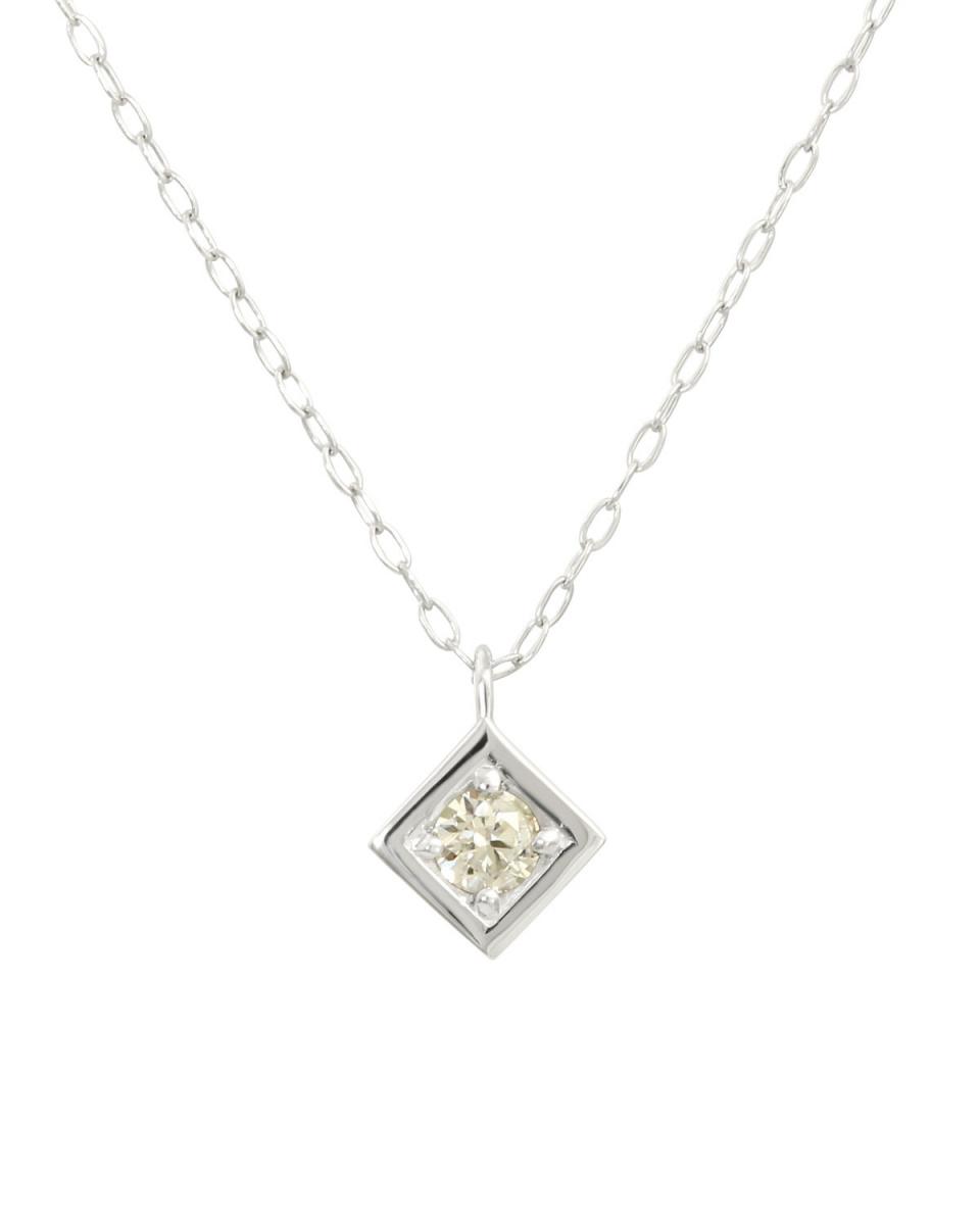 鉑金鑽石及黃金飾品COLLECTION /鉑天然鑽石0.08ct所有的鉑金項鍊,鑽石○NSUZ-12759-008CT-A40-PT /女裝