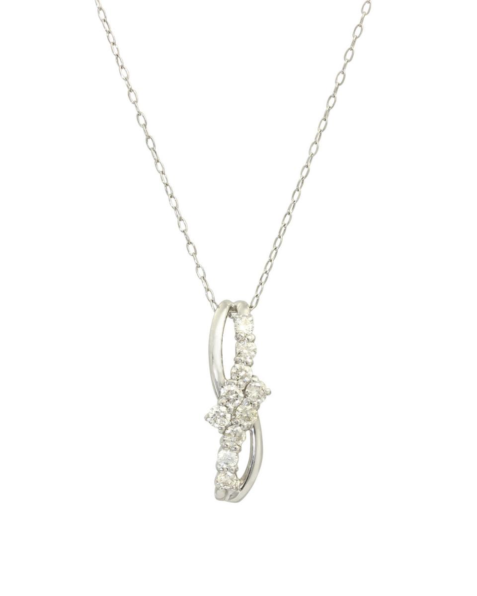 鉑金鑽石及黃金飾品COLLECTION /鉑天然鑽石計0.3ct白金項鍊設計○NSUZ-7387-03CT-A40-PT /女裝