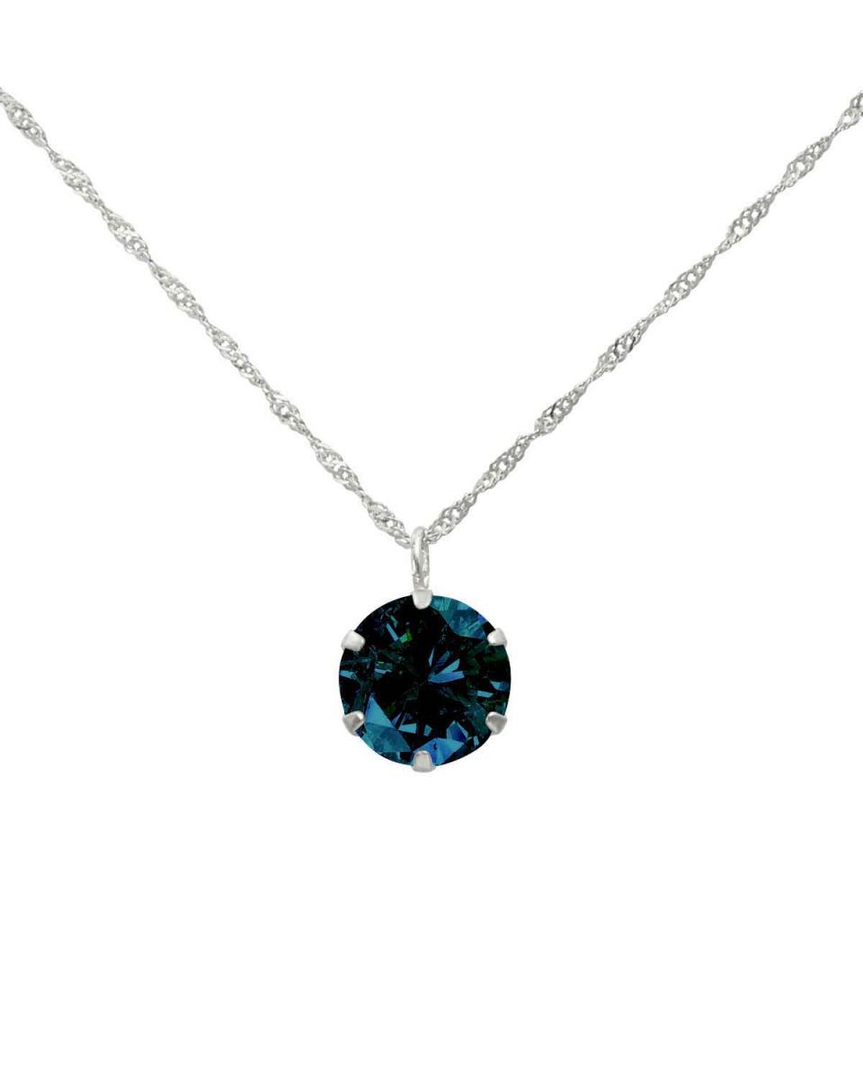 鉑金鑽石及黃金飾品COLLECTION / PT900天然鑽石0.5ct與論文深藍色的六爪項鍊卡判別○NSUZ-7584-05CTBL-S40-PT /女裝