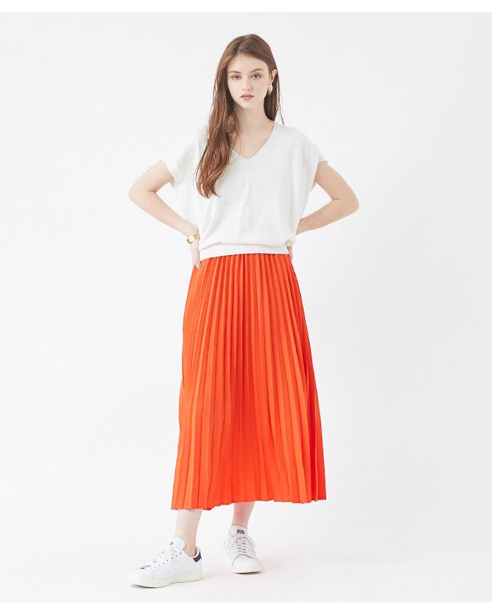 titivate / オレンジプリーツロングスカート○ATXN0196 / ウィメンズ