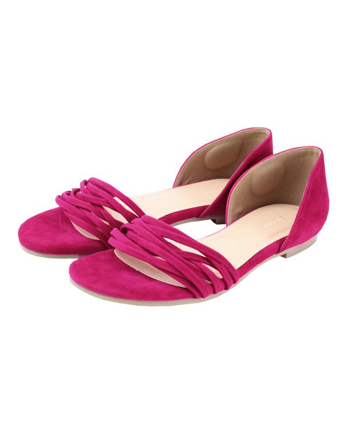 再找補一下/粉分離式設計的涼鞋○ATXP2085 /女裝