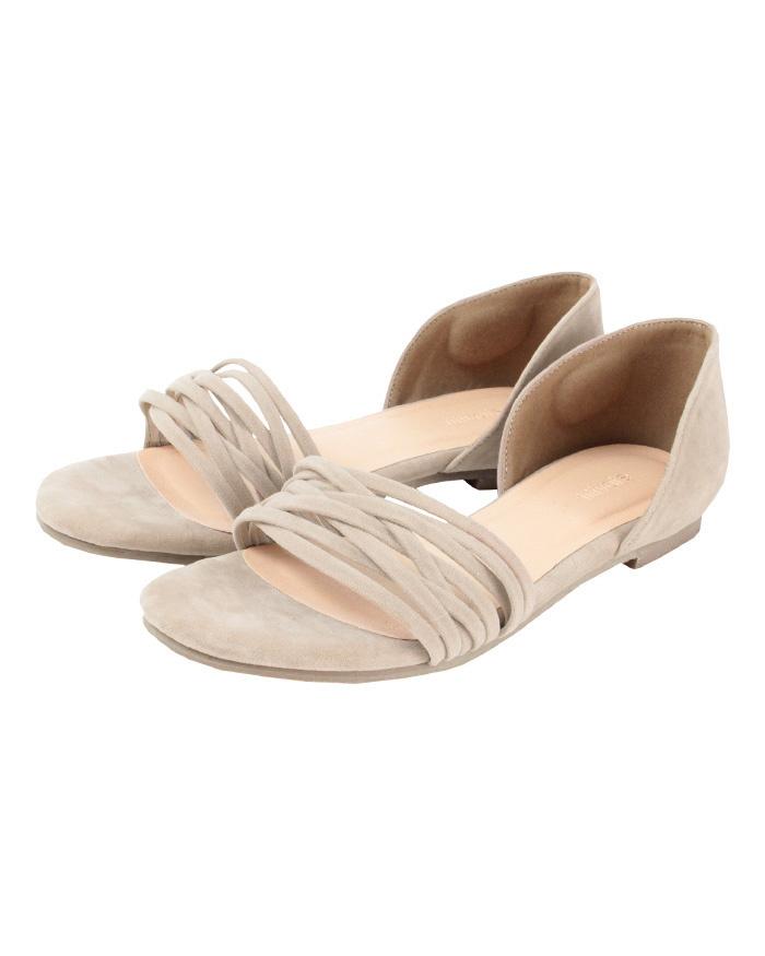 再找補一下/米色獨立設計的涼鞋○ATXP2085 /女裝
