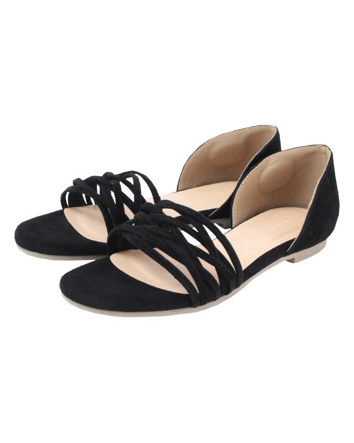 再找補一下/黑色分離式設計的涼鞋○ATXP2085 /女裝
