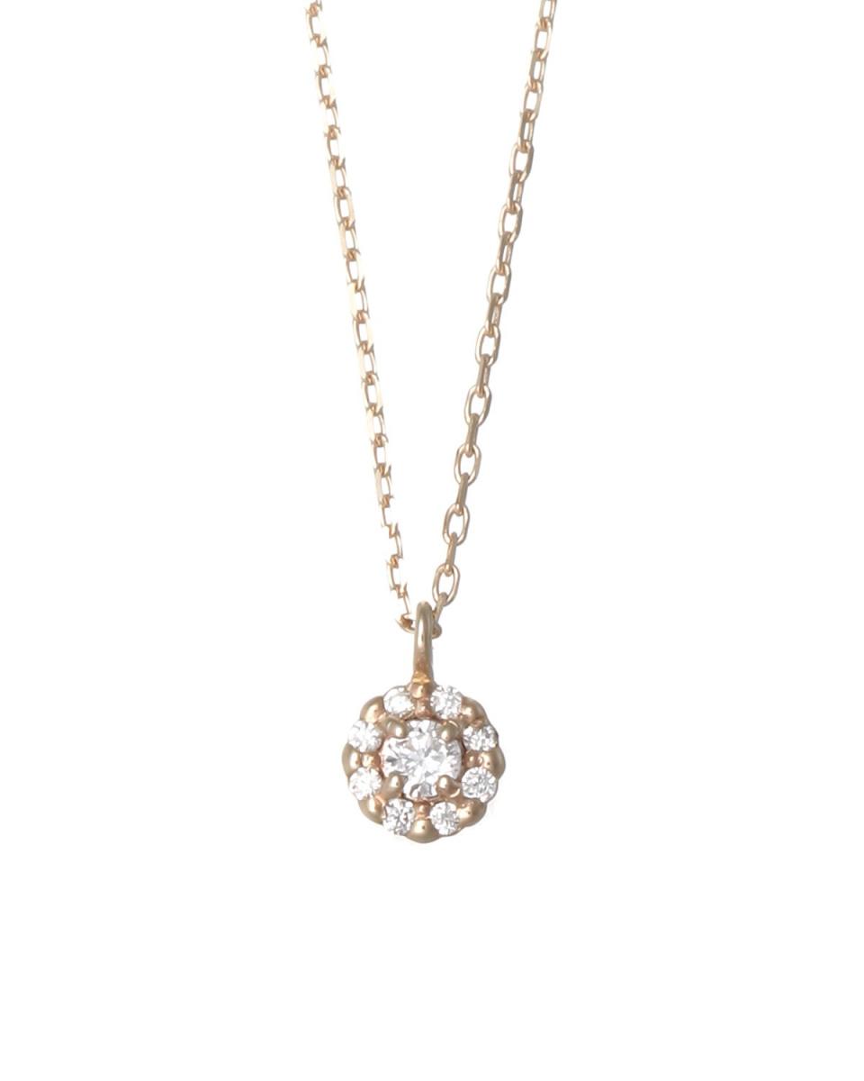Coerubijoux钻石/ K10YGK10YG铺路钻石项链佩蒂特○0204639 /女装