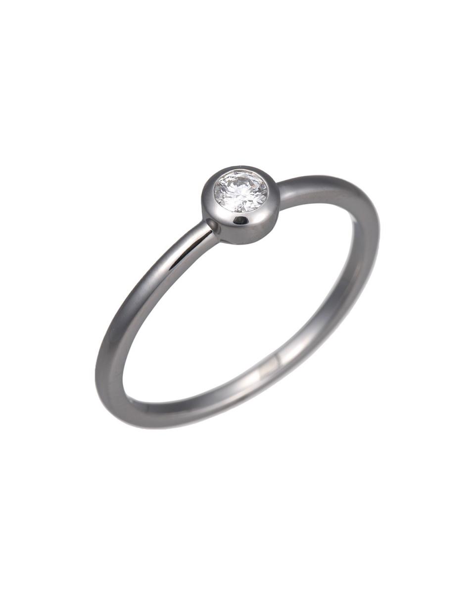 Coerubijoux Diamond / PT900PT900 diamond 0.08ct ring ○ RKT-04R / Women's