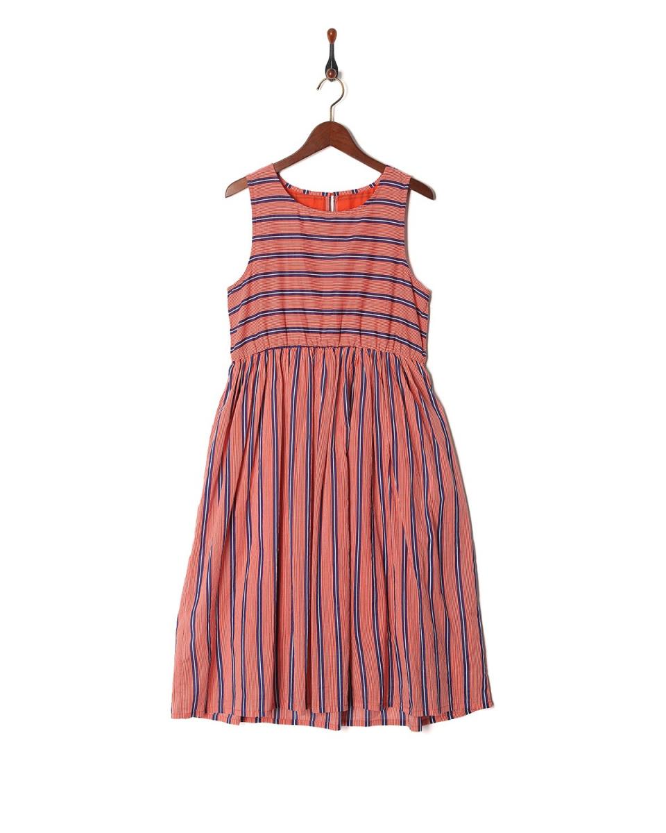 miumannH /条纹条纹棉质连衣裙○W06-2015 /女装