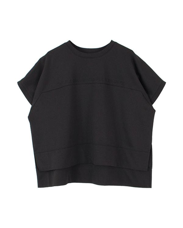 再找补一下/黑色图案刺绣打孔切割套衫○ATJN0125 /女装