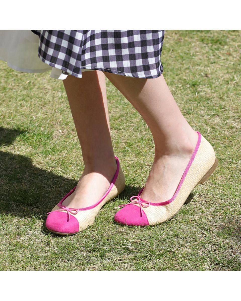 Launa lea / pink S / C square toe by color ballet shoes ○ B6602 / Women's