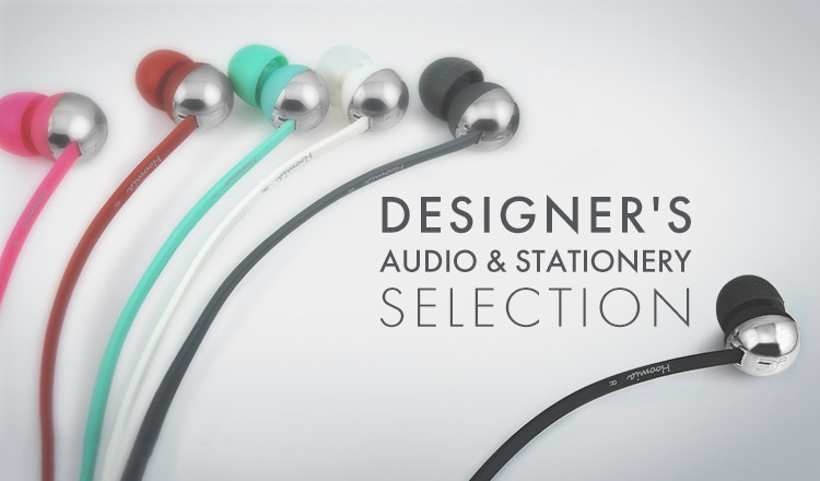 DESIGNER'S AUDIO & STATIONERY SELECTION