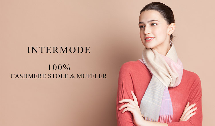 INTERMODE 100% CASHIMERE STOLE & MUFFLER