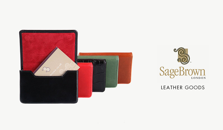 SAGE BROWN -LEATHER GOODS-