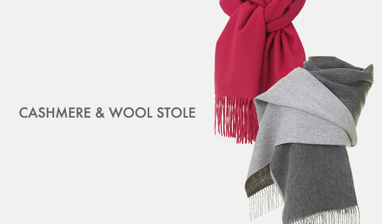 CASHMERE & WOOL STOLE