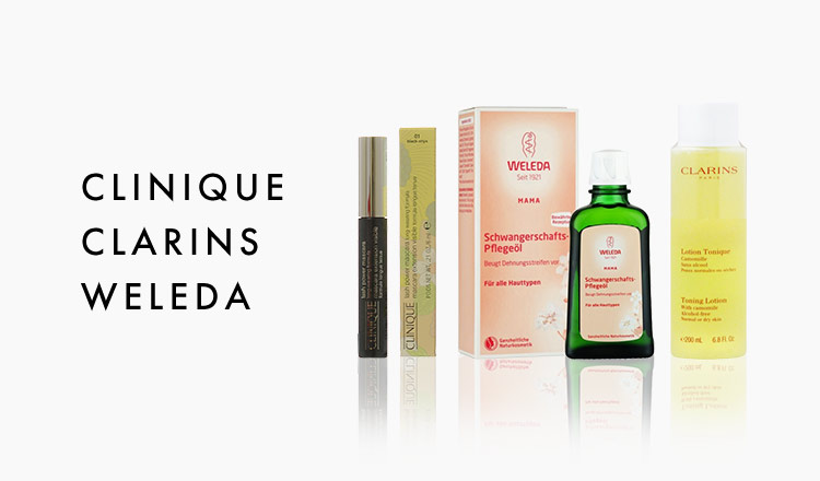 CLINIQUE/CLARINS/WELEDA