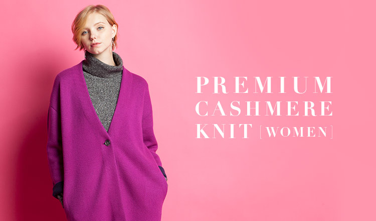 PREMIUM CASHMERE KNIT -WOMEN-