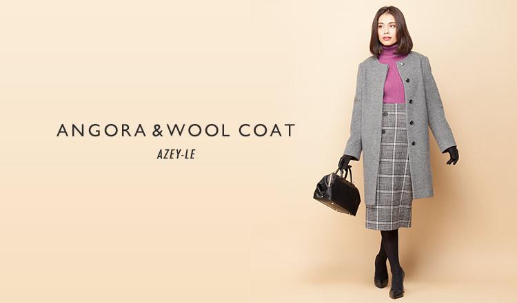 AZEY-LE -ANGORA & WOOL COAT-