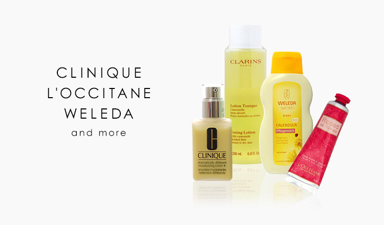 CLINIQUE/L'OCCITANE/WELEDA and more