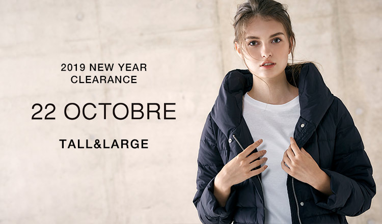 22 OCTOBRE TALL&LARGE -2019 NEW YEAR CLEARANCE-