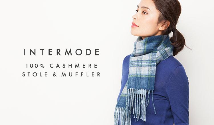 INTERMODE CASHIMERE STOLE & MUFFLER