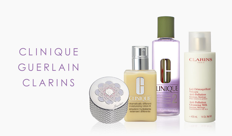 CLINIQUE/GUERLAIN/CLARINS