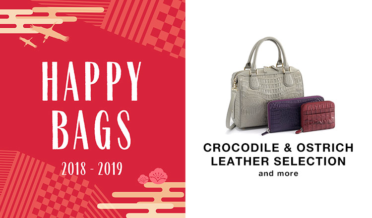 -NEW YEAR HAPPY BAG-CROCODILE & OSTRICH LEATHER  and more