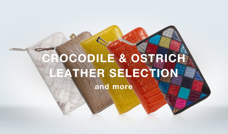 CROCODILE  LEATHER SELECTION and more