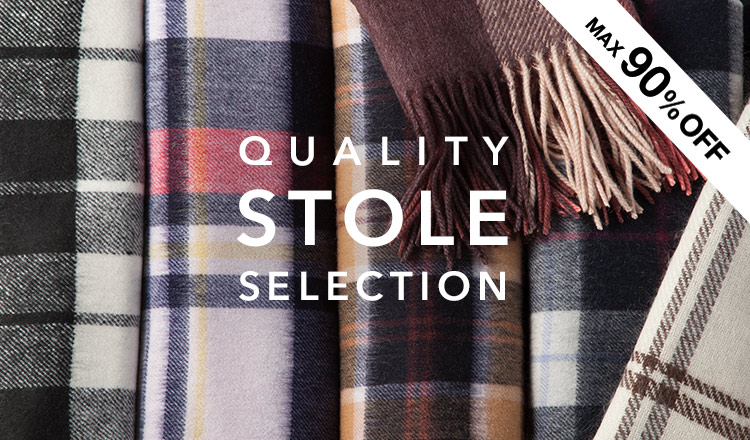 QUALITY STOLE SELECTION -OVER 70%OFF-