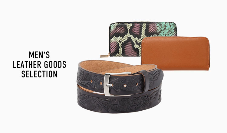 MEN'S  LEATHER GOODS SELECTION