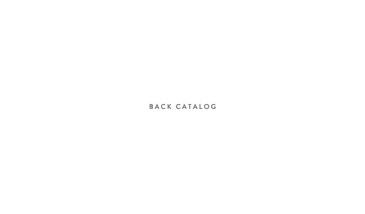BACK CATALOG 4月