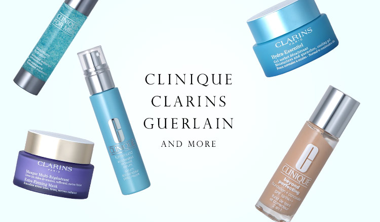 CLINIQUE/CLARINS/GUERLAIN and more