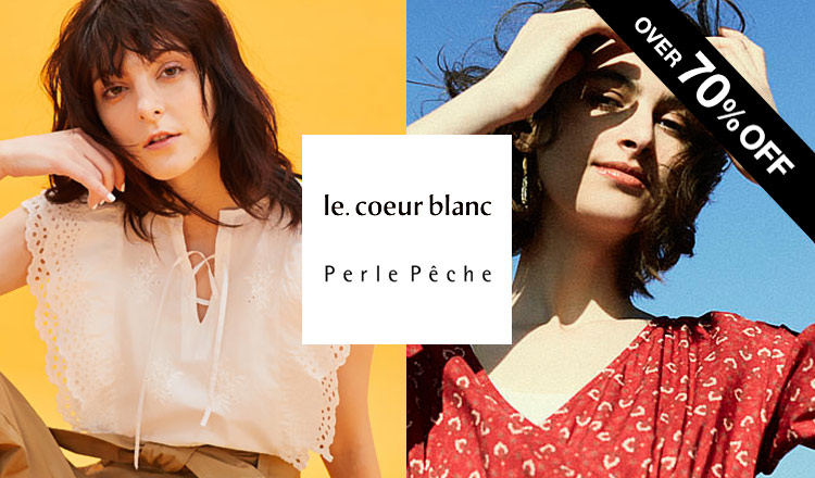 LE COEUR BLANC/PERLE PECHE -OVER70%OFF-