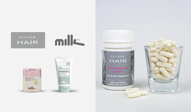 育毛サプリメント ESTROAM HAIR&ナチュラルコスメ MILK