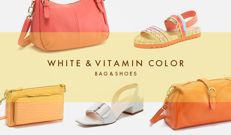 WHITE & VITAMIN COLOR -BAG&SHOES-