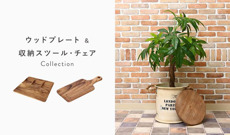 ウッドプレート & 収納スツール・チェア Collection