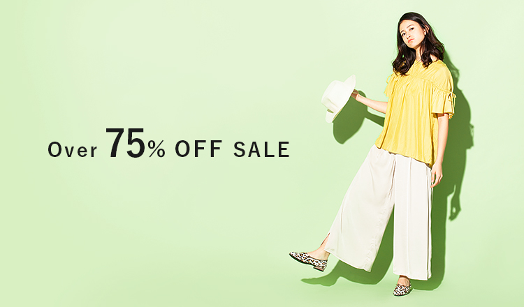 Over 75%OFF SALE
