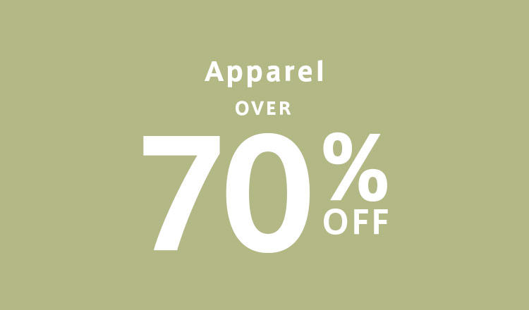 OVER 70%OFF  apparel