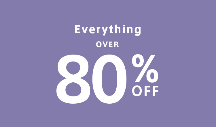 OVER 80%OFF