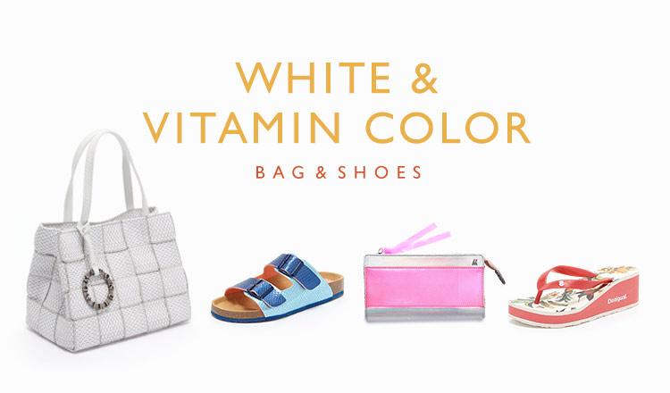 WHITE & VITAMIN COLOR -BAG&SHOES-