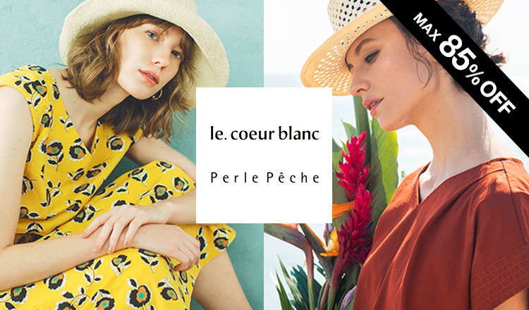 LE COEUR BLANC/PERLE PECHE -OVER70%OFF-