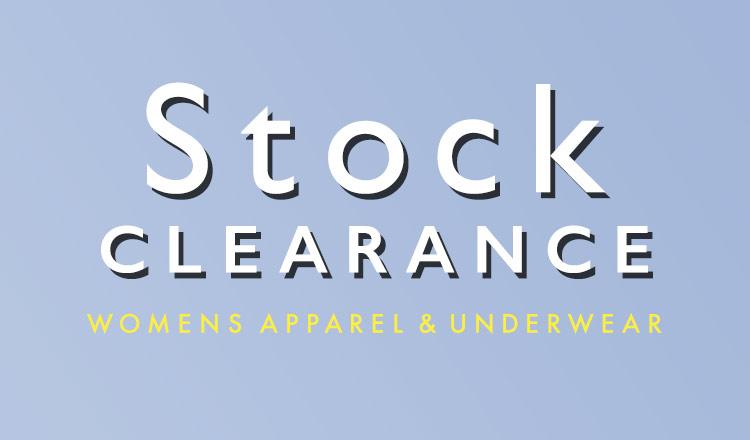 GLADD STOCK CLEARANCE WOMENS APPAREL&UNDERWEAR