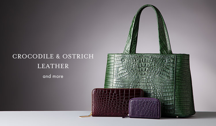 CROCODILE & OSTRICH LEATHER SELECTION and more