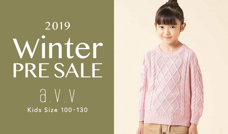 a.v.v Kids -2019 WINTER PRE SALE Kids Size 100-130-