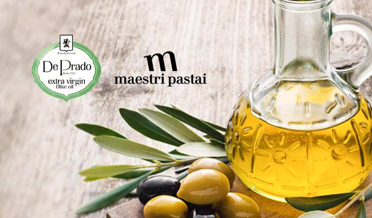 De Prado&maestri pastai-オーガニックオリーブオイル&イタリアの低温乾燥パスタ-