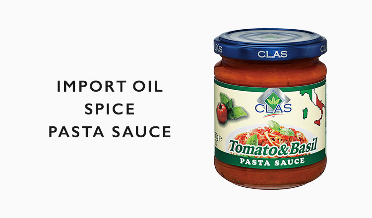 IMPORT OIL /SPICE /PASTA SAUCE
