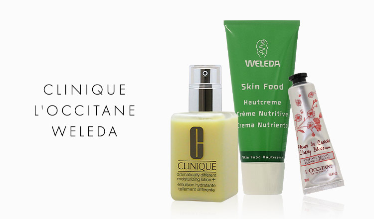 CLINIQUE/L'OCCITANE/WELEDA